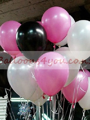 30 Pinkblackwhite Balloons Party Decorations Party Balloons