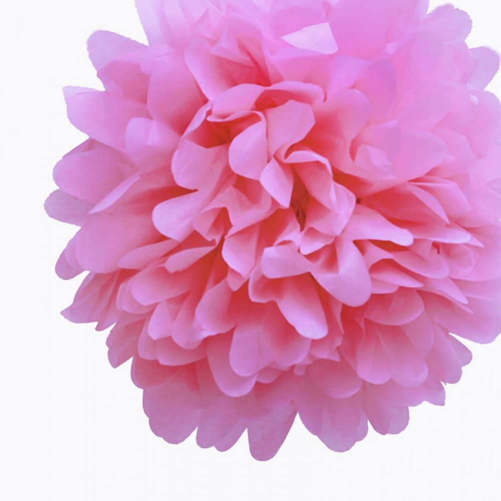 Pink Tissue Paper Pom Poms Flower Ball New Zealand No1 Balloons Shop
