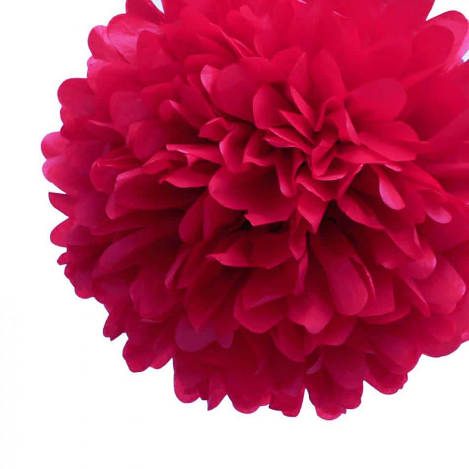 Red Tissue Paper Pom Poms Flower Ball New Zealand No1 Balloons Shop