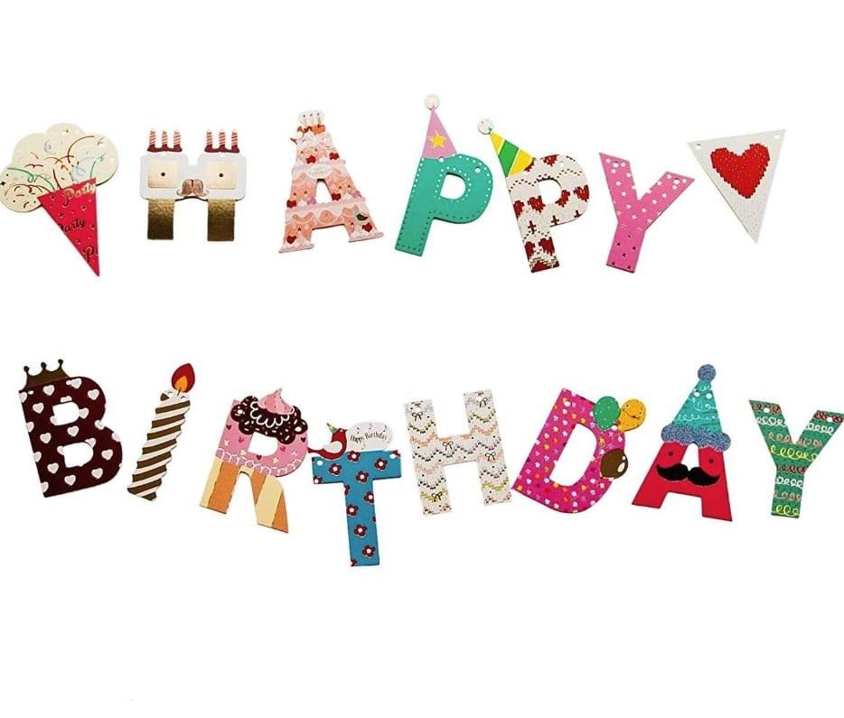 Birthday Party Banner -- Happy Birthday Banner