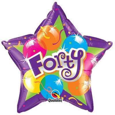 Forty Sparkling Birthday Foil Balloon