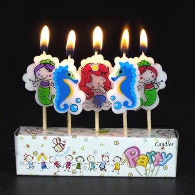 Cake Candles Birthday Craft Cupcake Mermaid
