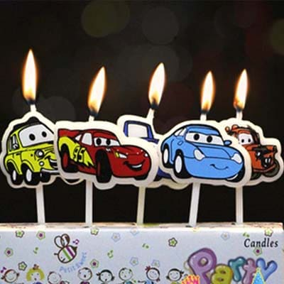 Lightning Mcqueen Cake Candles