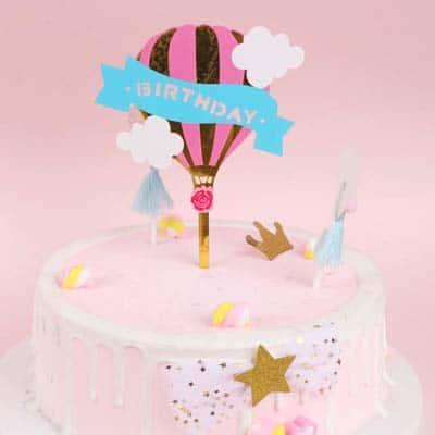 Surprising Birthday Cake Topper Hot Air Balloon Birthday Cake Topper Funny Birthday Cards Online Elaedamsfinfo
