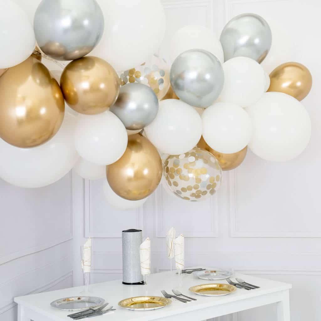 Diy Balloon Garlands Chrome Gold Chrome Silver