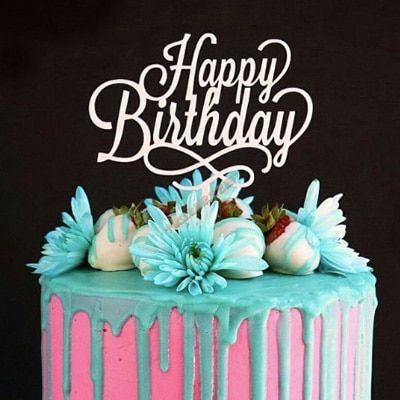 Cool Birthday Cake Topper Happy Birthday 1 Party Decorations Personalised Birthday Cards Paralily Jamesorg