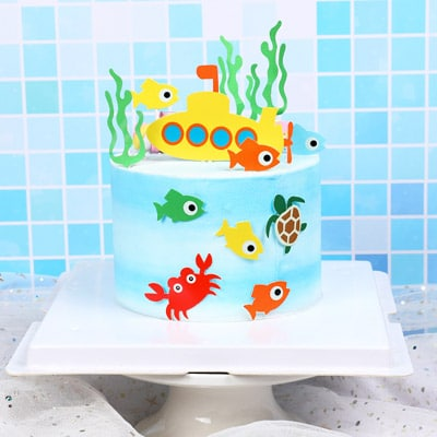 Magnificent Birthday Cake Topper Under The Sea 10Pcs Party Decorations Funny Birthday Cards Online Eattedamsfinfo
