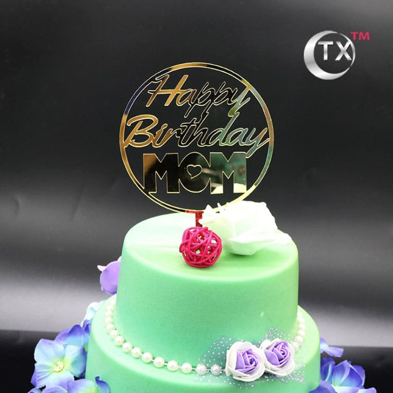 Excellent Birthday Cake Topper Happy Birthday Mom Party Decorations Funny Birthday Cards Online Inifofree Goldxyz